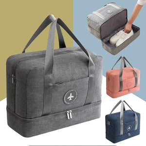 Dry-wet Separated Gym Bag - GREY - Awesales