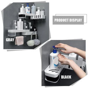 Rotary Receptacle Rack - White - Gray - Awesales