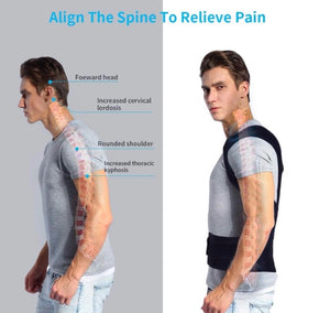 Magnetic Posture Corrective Therapy Back Brace For Men & Women [2019 Version] - - Awesales