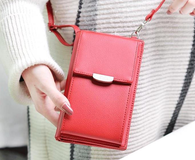 All in 1 - Crossbody Phone Bag For Women - Red - Awesales