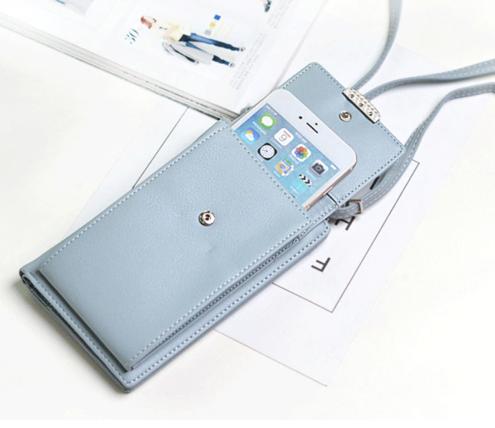 All in 1 - Crossbody Phone Bag For Women - Blue - Awesales