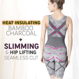 Bamboo Charcoal Sculpting Body Shaper - Awesales