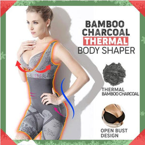 Bamboo Charcoal Sculpting Body Shaper - XXL - Awesales
