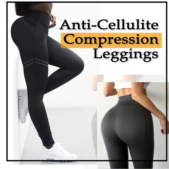 Anti-Cellulite Compression Leggings - Black / S - Awesales