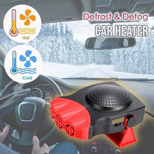 Defrost and Defog Car Heater - Red - Awesales