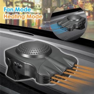 Defrost and Defog Car Heater - Black - Awesales