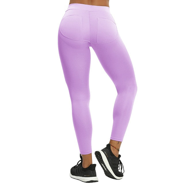 B.Lift™-Push Up Leggings: Booty Boost Power! - Patch Purple / L - Awesales