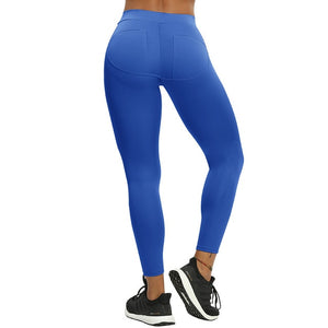 B.Lift™-Push Up Leggings: Booty Boost Power! - Patch Blue / L - Awesales