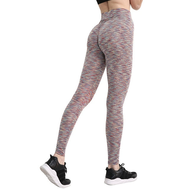 B.Lift™-Push Up Leggings: Booty Boost Power! - Stripe Yellow / L - Awesales