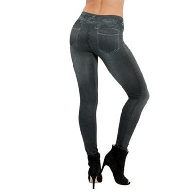 Capri™ - Curvy Jegging Jeans (Plus Size available) - Black / XXL - Awesales