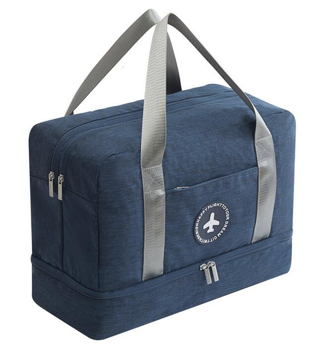 Dry-wet Separated Gym Bag - BLUE - Awesales