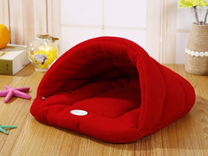 Warm Sleeping Fleece Dog Bed - Red / XL 68X58CM - Awesales