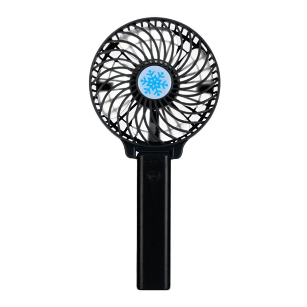 Portable Hand Fan USB Rechargeable - Black - Awesales