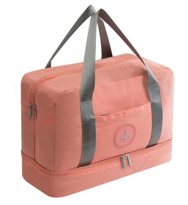 Dry-wet Separated Gym Bag - PINK - Awesales