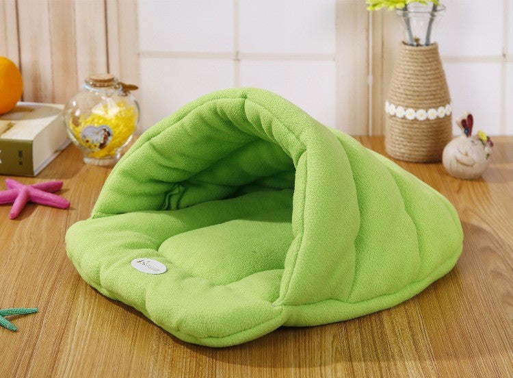 Warm Sleeping Fleece Dog Bed - Green / M 48X38CM - Awesales