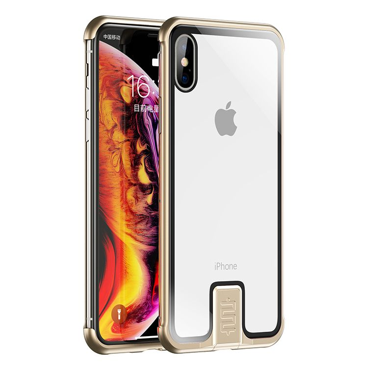 No Border Case For iPhone - For iPhone XR / Gold - Awesales
