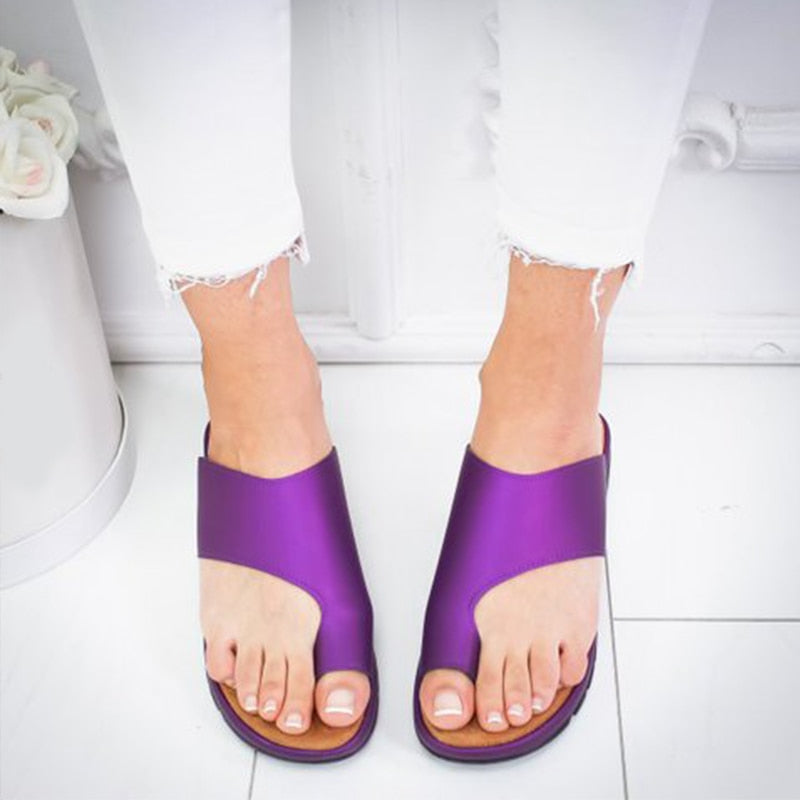 Clarity™-Women Comfy Bunions Corrector Sandals - purple / 10.5 - Awesales