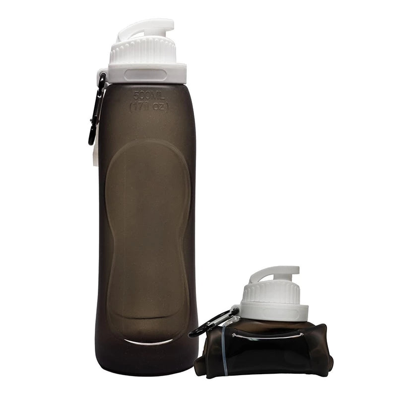 Silicone Water Bottle - gray - Awesales