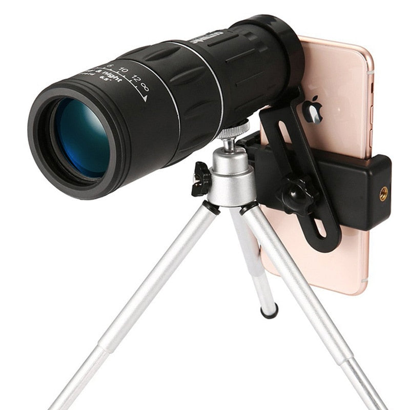 5ZOOM™ - High Power Prism Monocular Telescope - TELESCOPE + PHONE CLIP + EXTENDABLE TRIPOD - Awesales