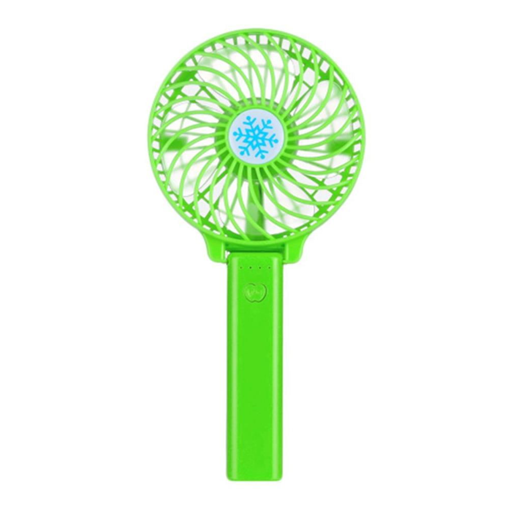 Portable Hand Fan USB Rechargeable - Green - Awesales