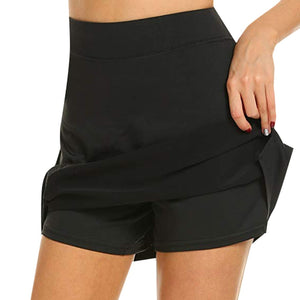 Anti-Chafing Active Skort - Black / XL - Awesales