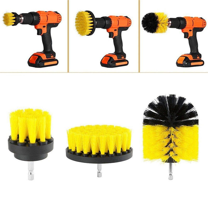 3-in-1 Brush Head Set - Applied For Electric Drill - Awesales