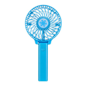 Portable Hand Fan USB Rechargeable - Deep Blue - Awesales