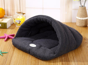 Warm Sleeping Fleece Dog Bed - Grey / M 48X38CM - Awesales