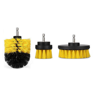 3-in-1 Brush Head Set - Applied For Electric Drill - - Awesales