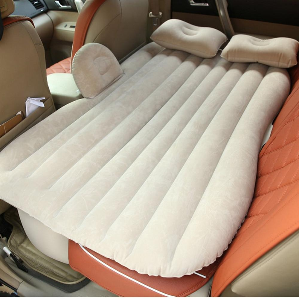 Inflatable Car Mattress - Beige / China - Awesales