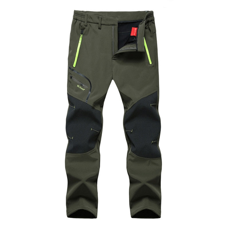 MOUNTAINSKIN MEN'S WATERPROOF WINTER PANTS - Army Green / XL - Awesales