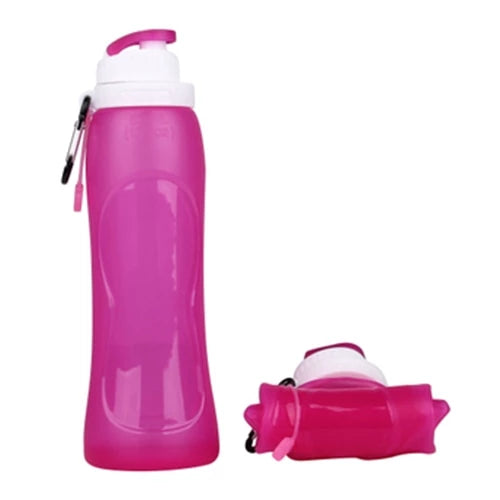 Silicone Water Bottle - Pink - Awesales