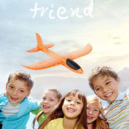Hand Throw Flying Glider Planes - Orange / 19 inches - Awesales
