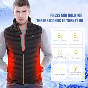 WarmTech™ - Unisex Intelligent Heated Vest - Black / 3XL - Awesales