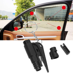 SAFY™ - 3 in 1 Car Life Keychain - Black - Awesales