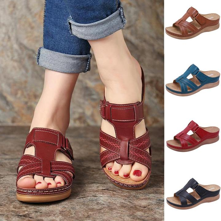 FINEWALK™ - Premium Faux Leather Orthopedic Open Toe Sandals - Awesales