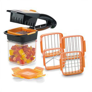 5-in-1 Fruit and Vegetable Cutter Set - Orange - Awesales