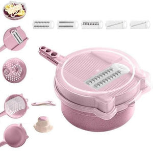 9-in-1 Multi-Function Easy Food Chopper - Pink - Awesales