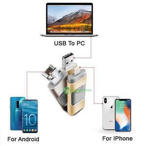 iFlash - OTG USB flash drive for iPhone, iPad & Android - 256GB / Gold - Awesales