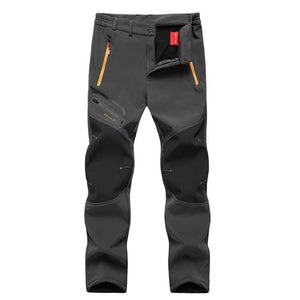 MOUNTAINSKIN MEN'S WATERPROOF WINTER PANTS - Gray / XXXL - Awesales