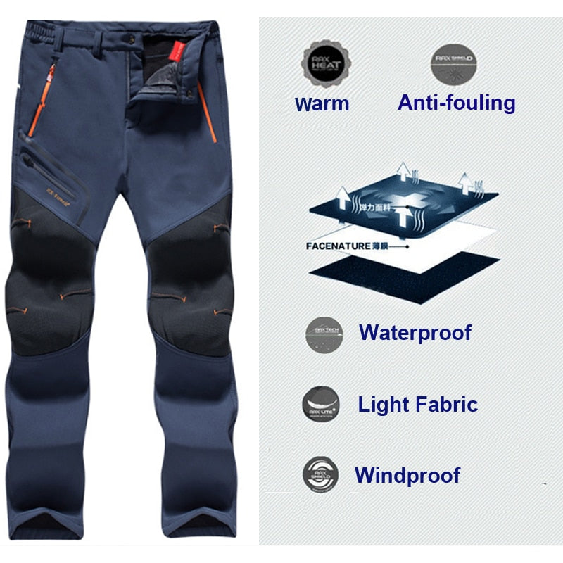 MOUNTAINSKIN MEN'S WATERPROOF WINTER PANTS - - Awesales