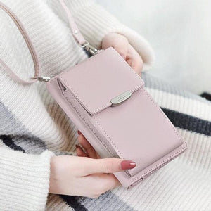 All in 1 - Crossbody Phone Bag For Women - Pink - Awesales