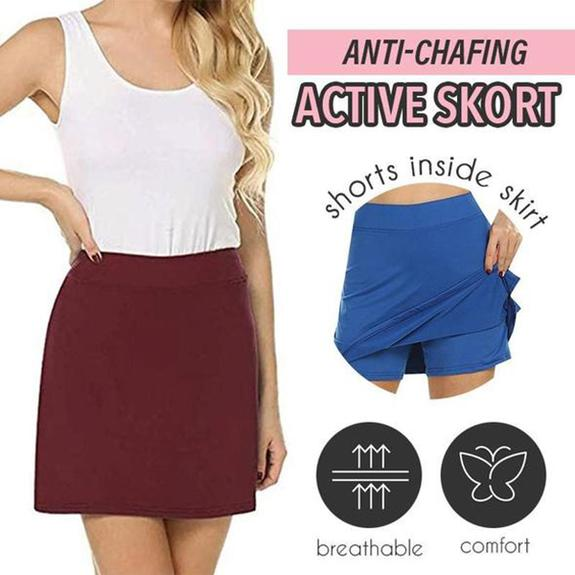 Anti-Chafing Active Skort - Red / XL - Awesales