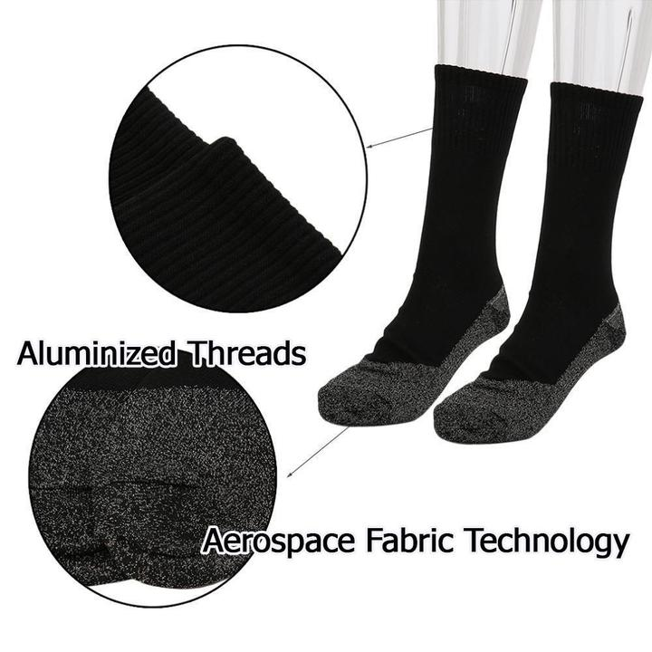 AluSocks™ - Winter 35 Below Aluminized Insulation Fibers Heat Socks - Set of 3 pairs - Awesales
