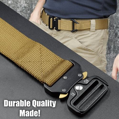Meta™ - Military Style Tactical Nylon Belt - Khaki - Awesales