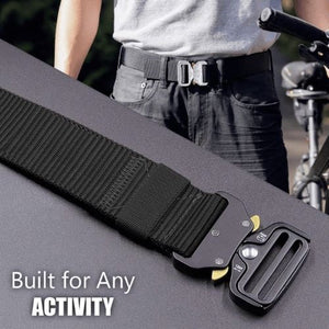 Meta™ - Military Style Tactical Nylon Belt - Black - Awesales