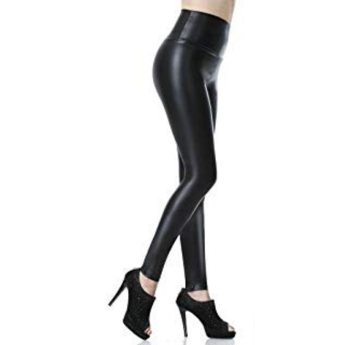 Capri™ - Original Faux Leather High Waist Leggings with Tummy Control - Awesales