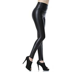 Capri™ - Original Faux Leather High Waist Leggings with Tummy Control - - Awesales