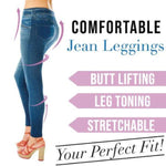 Capri™ - Curvy Jegging Jeans (Plus Size available) - Blue / M - Awesales