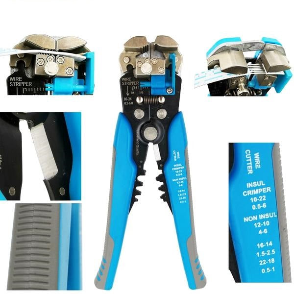 NEC™ - Self Adjusting Easy Wire Stripper - Blue - Awesales